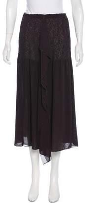 Issey Miyake Fete Sheer Midi Skirt