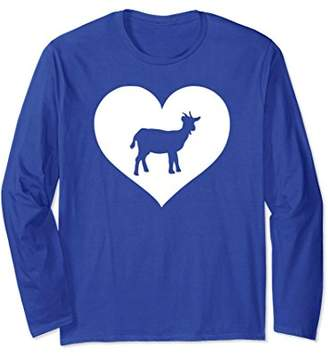 Goat lover Long sleeve T Shirt gift for teen girls & women