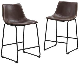 M.O.D. Boomer Faux Leather Counter Stools, Set of 2