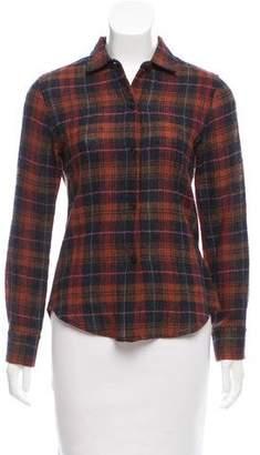 Simon Miller Plaid Wool Button-Up