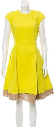 Christian Dior Sleeveless A-line Knee-Length Dress