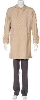 Loro Piana Suede-Trimmed Storm System Coat