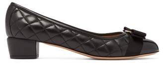 Salvatore Ferragamo Vara Quilted Leather Pumps - Womens - Black