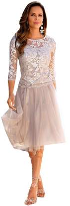 kelaixiang Lace Short Full Sleeves Mother of The Bride Dress Wedding Gown