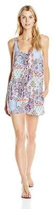 Gottex Profile Blush By Profile Blush by Women's Avante Garden Jersey Button-Front Romper Cover Up