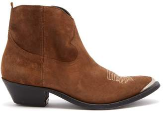 Golden Goose Young Suede Ankle Boots - Womens - Tan