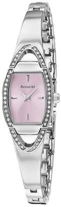 Accurist Ladies Silver Analogue Semi Bracelet Watch Lb1458p.01