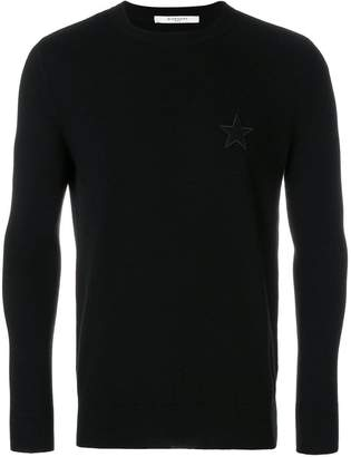 Givenchy star patch crew neck sweater