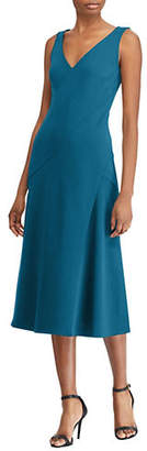 Lauren Ralph Lauren Crepe Fit-And-Flare Midi Dress