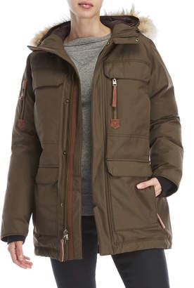 Sorel Caribou Real Fur Trim Hooded Down Parka