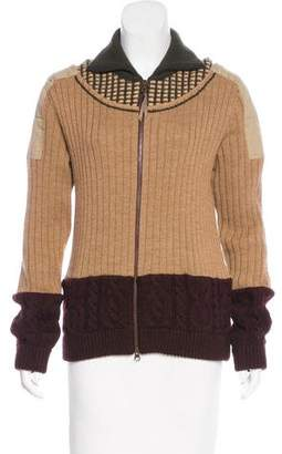 Issey Miyake Paneled Wool Sweater