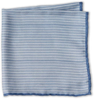 Brunello Cucinelli Silk Stripe Pocket Square
