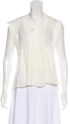 Rebecca Taylor Sleeveless V-Neck Blouse