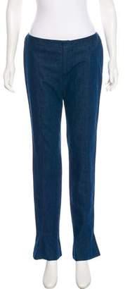 OMO Norma Kamali Mid-Rise Straight-Leg Jeans