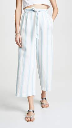 Frame High Waist Striped Clean Pants