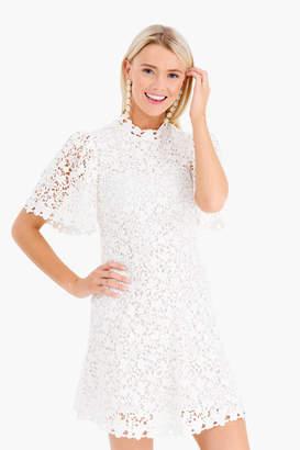 Rebecca Taylor Short Sleeve Floral Lace Dress
