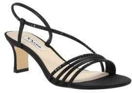 Nina Gerri-Ls Satin Low Heel Sandals