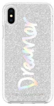 Rebecca Minkoff Dreamer Silver Glitter Case For iPhone XS & iPhone X