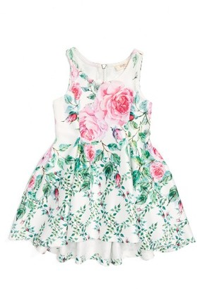 Infant Girl's Baby Sara Floral Print Sleeveless Dress $44 thestylecure.com