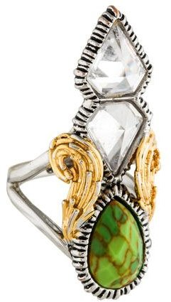 Alexis Bittar Alexis Bittar Two-Tone Crystal Cocktail Ring