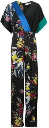 Diane von Furstenberg short sleeve wrap jumpsuit