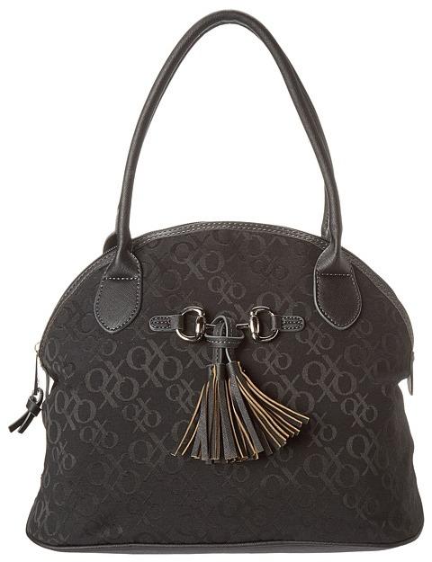 XOXO Eyelana Jacquard Satchel (Black) - Bags and Luggage