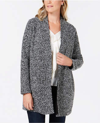 Charter Club Open-Front Boucle Jacket
