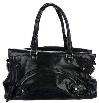 CNC Costume National Leather Zip Shoulder Bag