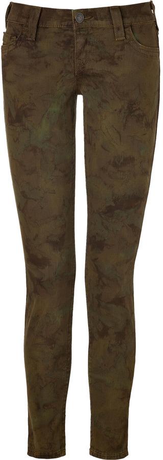 True Religion Military Super Skinny Tie-Dye Casey Jeans