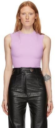 Tibi Purple Scuba Bodysuit