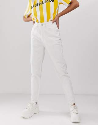 Uncivilised core mom jeans in off white
