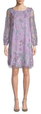 Marchesa Embroidered Butterfly Tunic
