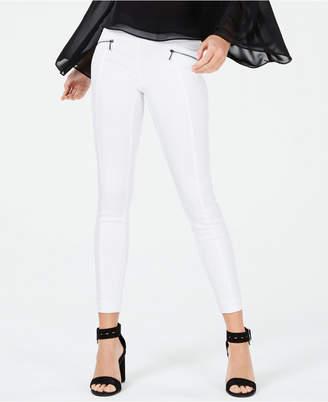Bar III Zip-Pocket Pull-On Skinny Pants