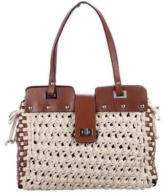 Philosophy di Alberta Ferretti Woven Leather Shoulder Bag