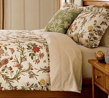 Bird Floral Duvet Cover & Sham