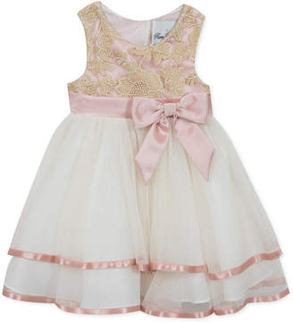 Rare Editions Toddler Girls Embroidered Fit & Flare Party Dress