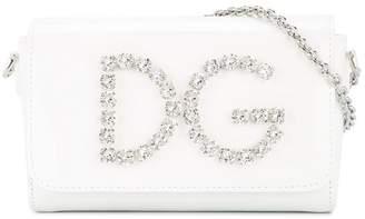 Dolce & Gabbana crystal logo shoulder bag