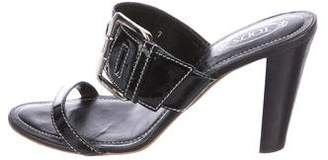 Tod's Patent Slide Sandals