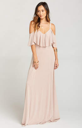 Show Me Your Mumu Renee Ruffle Maxi Dress ~ Dancing Queen Shine Blush
