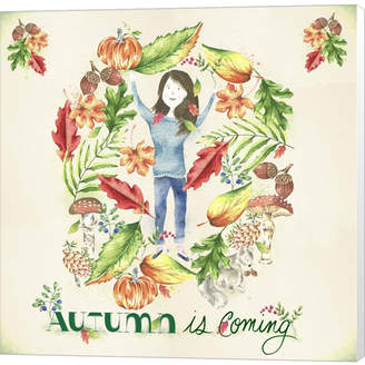 Braun Autumn Is Coming By Lisa Powell Canvas Art