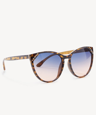 Sole Society Women's Helen Cat Eye Sunglasses Frame With Crystal Detail Tortoise One Size PLASTIC From