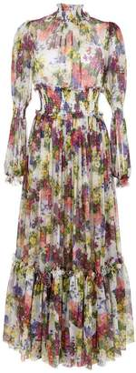 Dolce & Gabbana long floral print dress