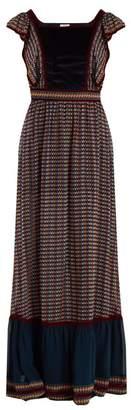 Talitha - Alicia Ashanti Print Silk Dress - Womens - Black Multi