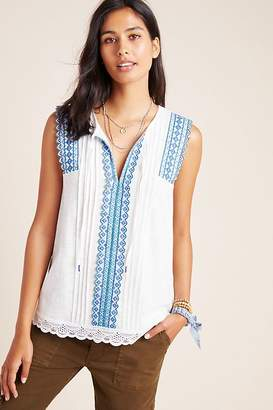 Anthropologie Sigrid Embroidered Tank Top