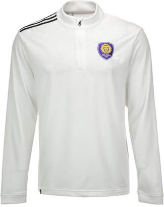 adidas Men Orlando City Fc 3-Stripe Quarter-Zip Pullover