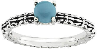 JCPenney FINE JEWELRY Personally Stackable Simulated Turquoise Ring
