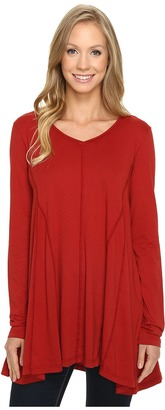 Mod-o-doc - Supreme Jersey Gored Inset V-Neck Tunic Women's Clothing $65 thestylecure.com