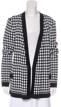 Balmain Patterned Open Front Cardigan Black Patterned Open Front Cardigan