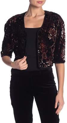 Milly Velvet Sequin Bolero Jacket
