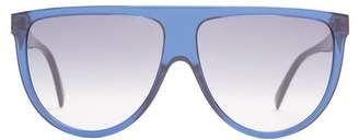 Celine Shadow Aviator D Frame Acetate Sunglasses - Womens - Navy